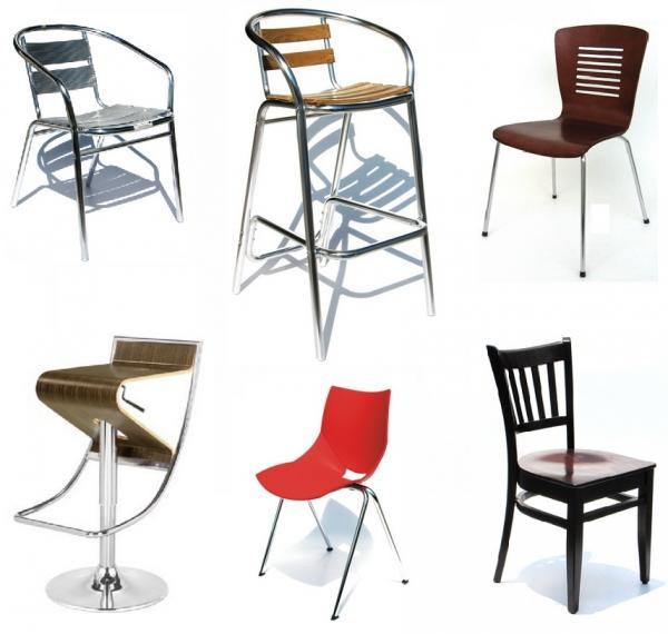 Sillas bancos y mesas para restaurantes cafeter as for Mobiliario y equipo para restaurante