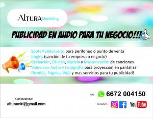 Publicidad en Audio & Video, Diseño Grafico y Paginas Web!
