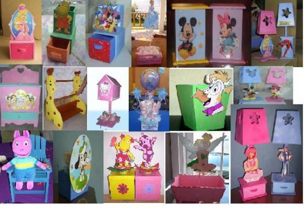 Centro de mesa infantil de madera imagui - Mesa infantil madera ...