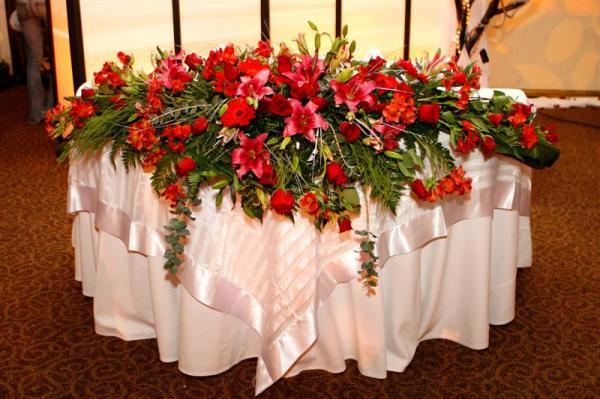 Como decorar el sal n y la mesa de novios foro organizar una boda - Manteles mesas grandes ...